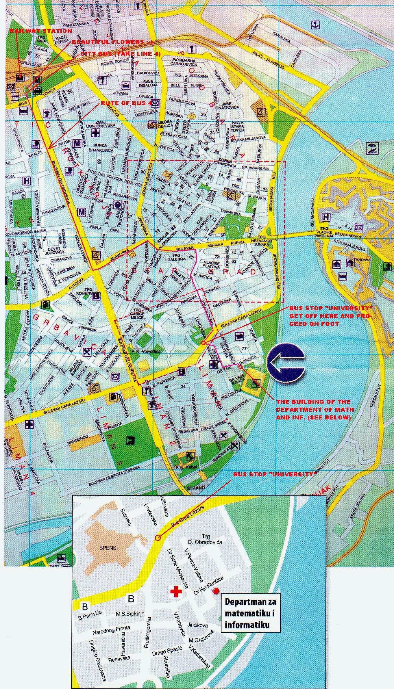 NSAC - Serbia clickable map